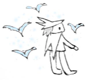 鳥?キレイ